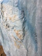 merinowol vilt en sojaboon indigo blauw verven