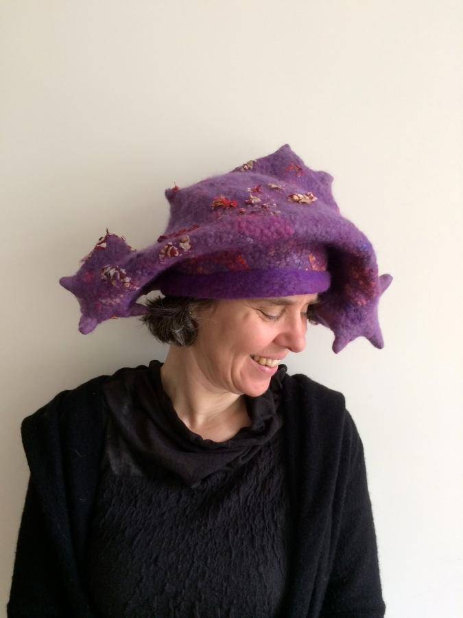 Carla-van-Belle-Vilt-Hoedje-vilten-Felt-Hat-Stars-Baret-Sterrenbaret
