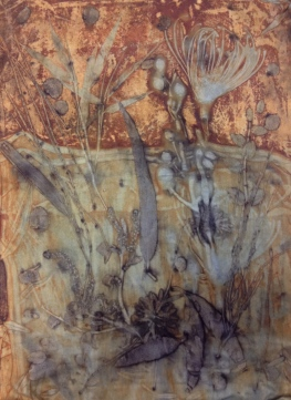 EcoPrint indigo en roest rust