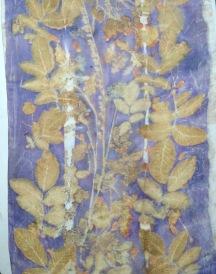 EcoPrint workshop Silk Scarf Carla-van-Belle