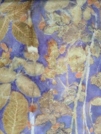 1 detail Ecoprint Natural dye