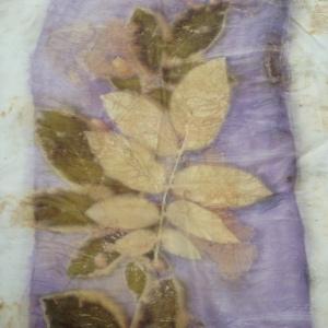 2 Ecoprint walnut natural dye logwood blanket