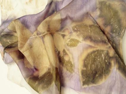 Ecoprint walnut scarf