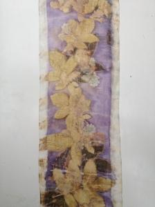 ecoprint walnut natural dye logwood blanket