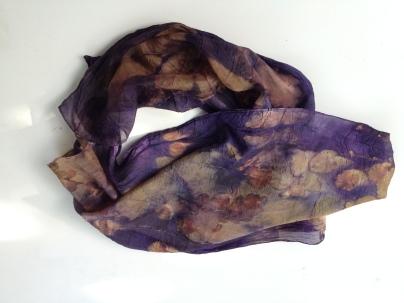 5 Scarf EcoPrint Plantaardig geverfd  Natural Dye