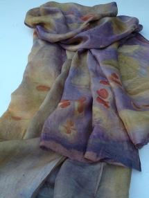 EcoPrint Silk Scarf workshop Carla-van-Belle