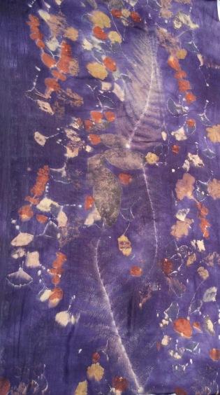 ecoprint, natural dye, scarf