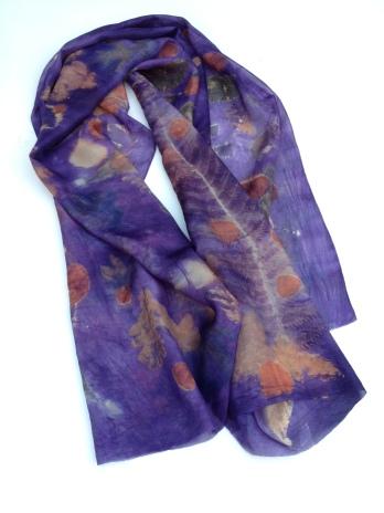 20 Sjaal   Scarf Ecoprint   Natuurlijk geverfd   Natural Dye