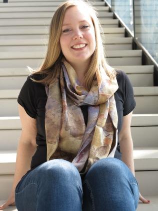 4 ecoprint sjaal blauwhout