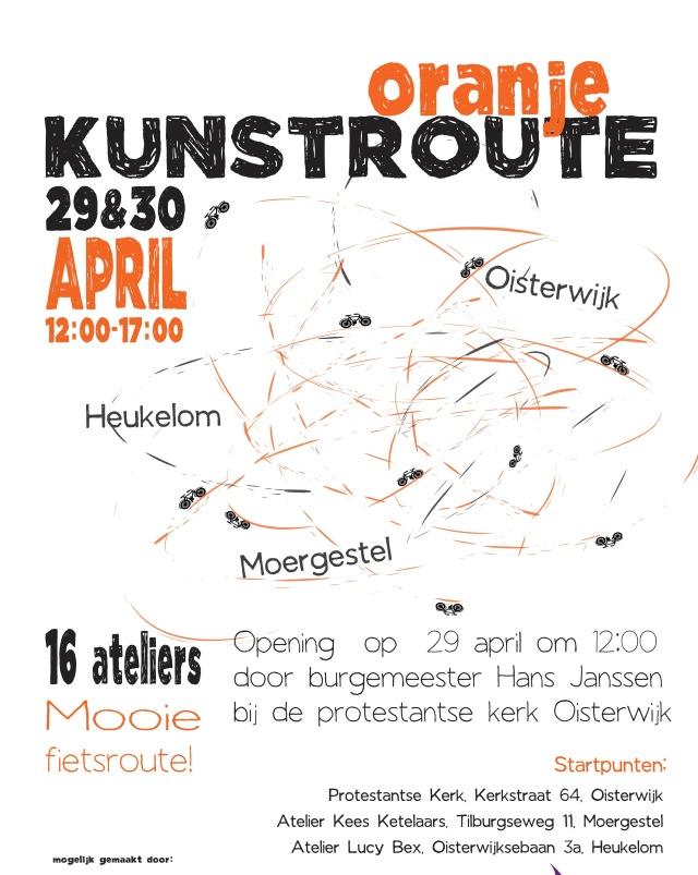 Poster Oranje Kunstroute