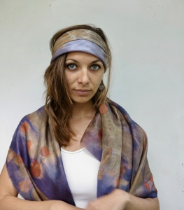 EcoPrint natural dye bandana
