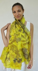 Natural Dye Botanical Print 100% Silk Wouw