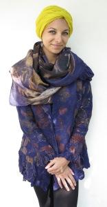 ecoprint jacket and scarf logwood