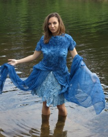 waternimf in indigo