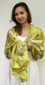 Ecoprint sjaal 49 weld / wouw /geel