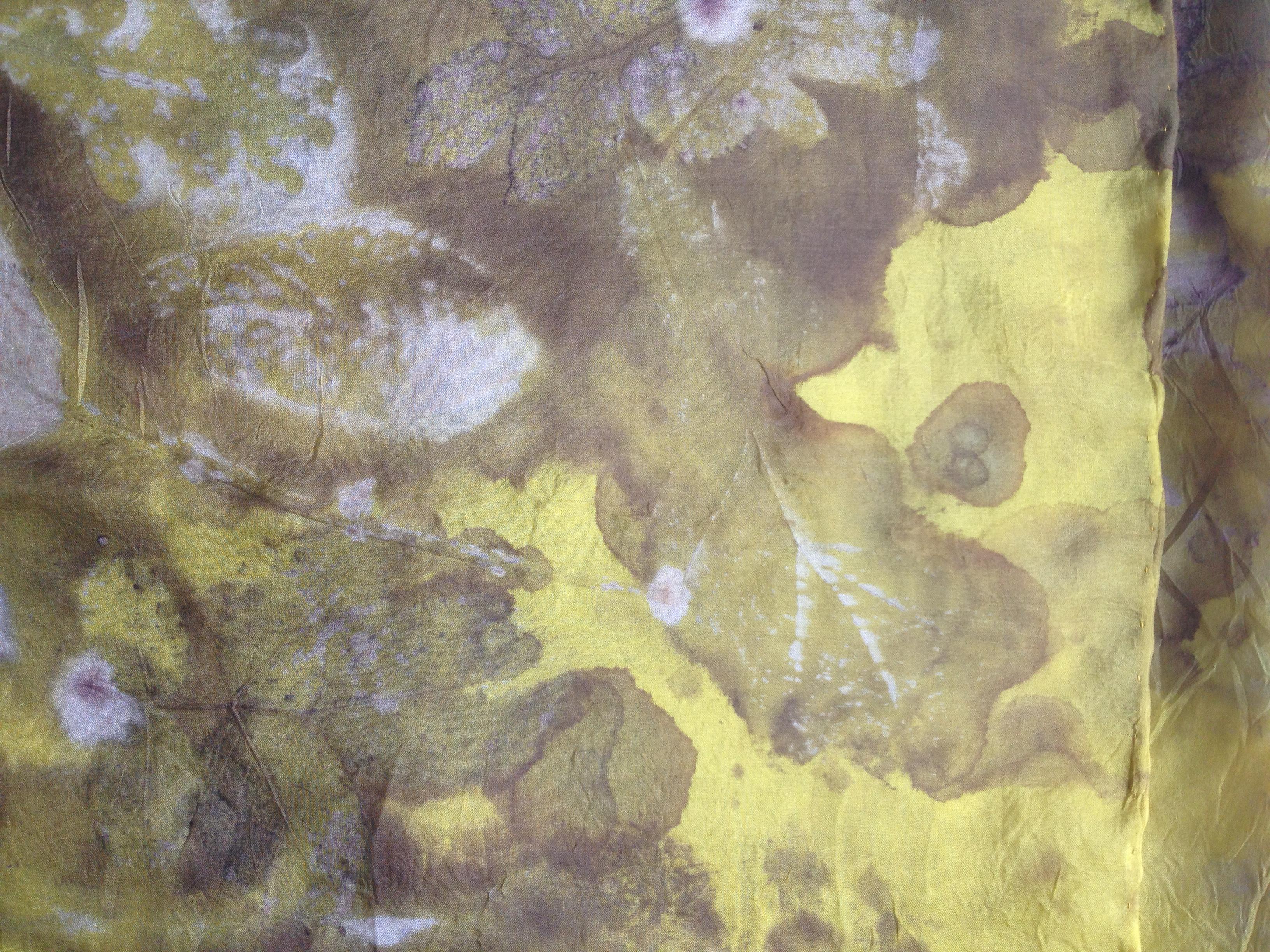 wouw geverfd plantaardig geprint