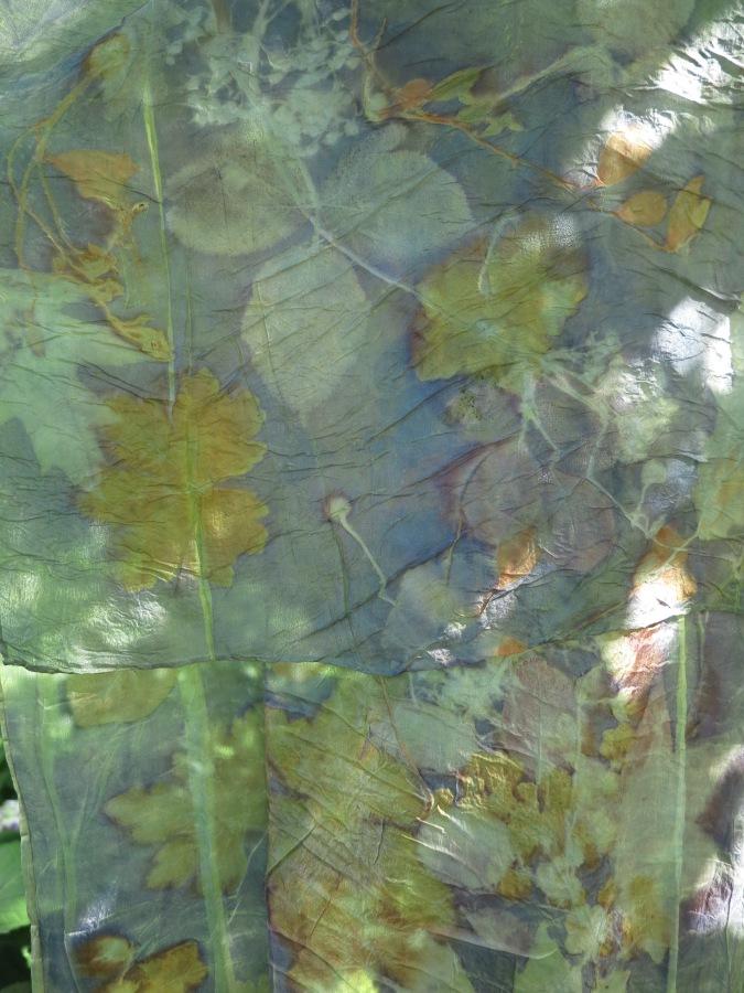 EcoPrint natural dye plantaardig verven onderwaterwereld