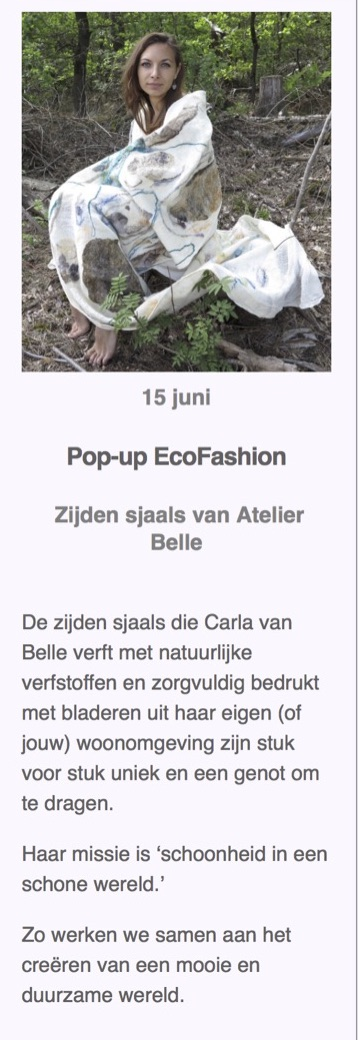 pleiade pop up eco fashion 15 juni 2019