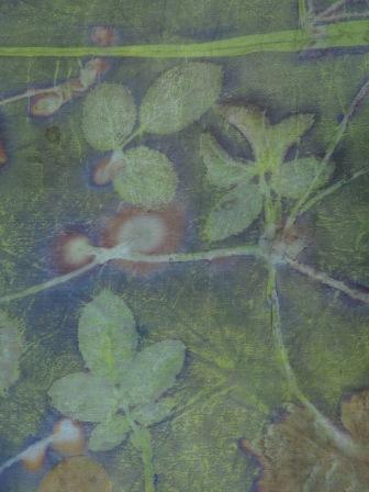 Groene EcoPrint met ijzer