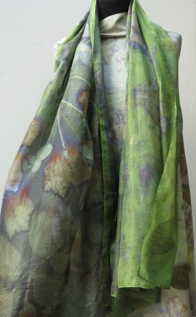 Green EcoPrint scarf