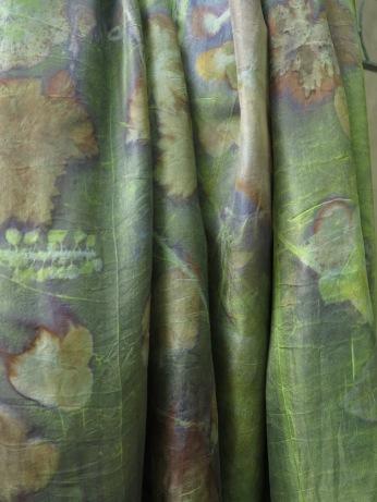 ecoprint onderwaterwereld groene sjaal