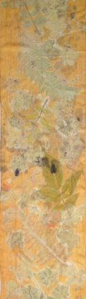 oranje ecoprint sjaal