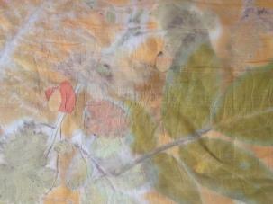 Ecoprint met kleur oranje