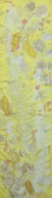 Ecoprinted Summer scarf