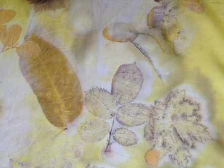 Yellow EcoPrint bladeren printen