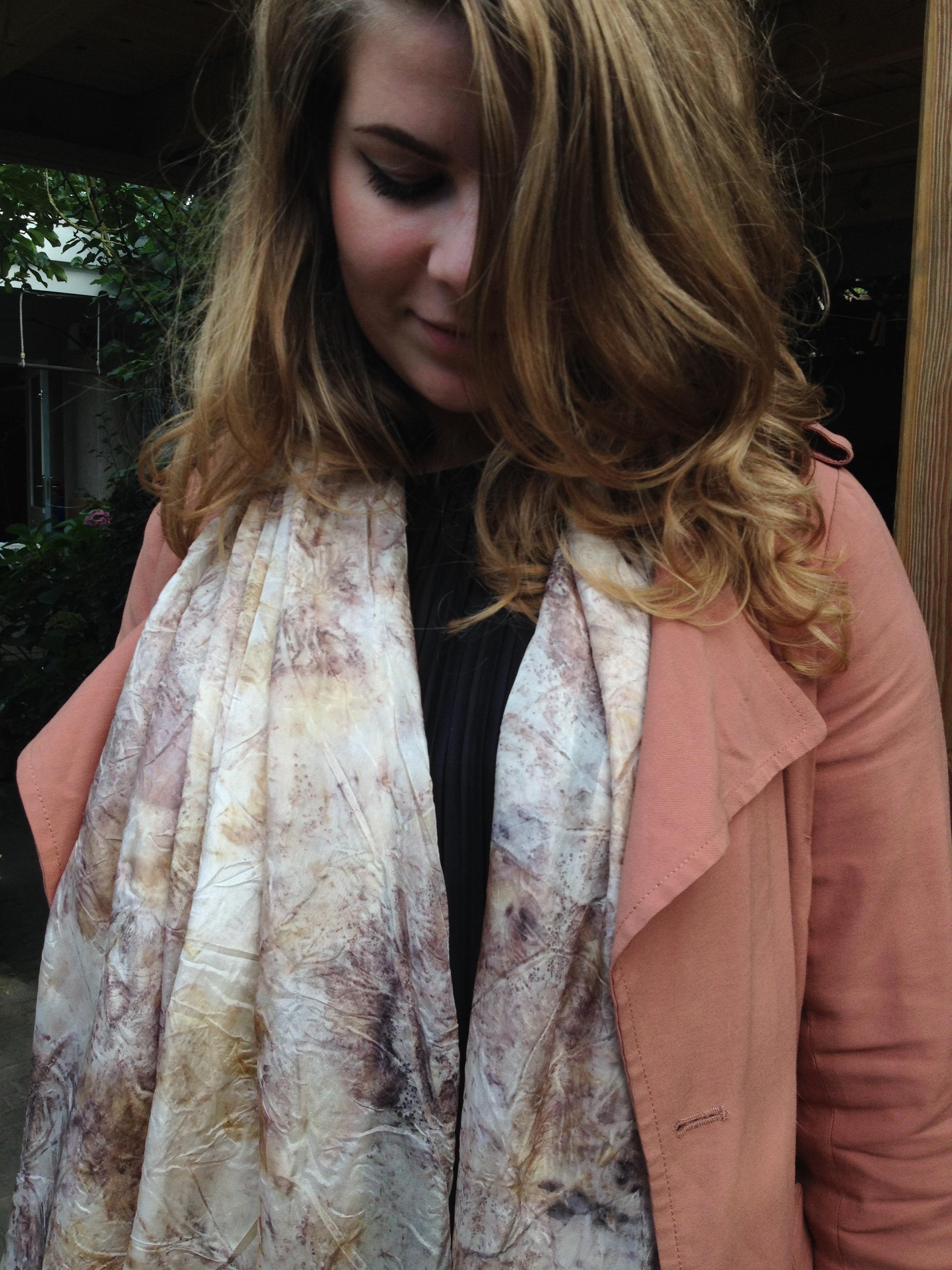 Zijden sjaal EcoPrint Sterre