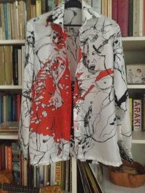 kunstprint op blouse
