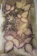 scherpe afdruk van de randen van de bladeren