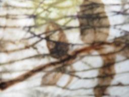 EcoPrint wol lijnen blad