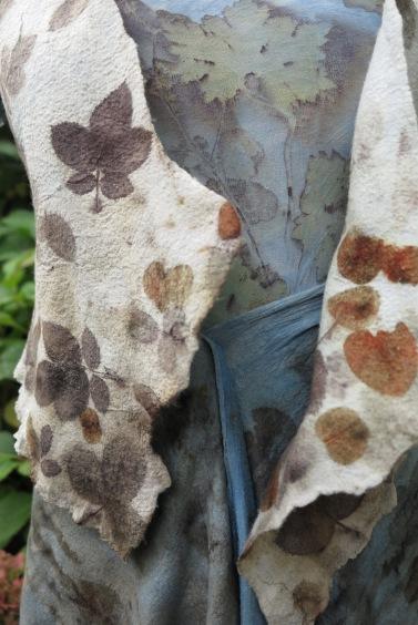 Indigo EcoPrint kleding garment