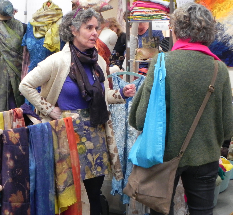 textielplusfestival Belle vilt en EcoPrint