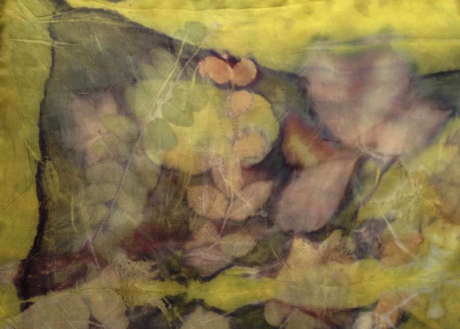 ecoprint sjaal zijde wouw