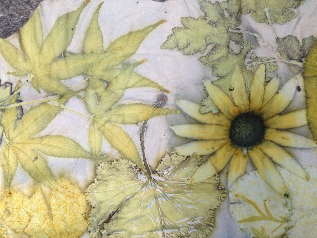 ecoprint leer bloemen