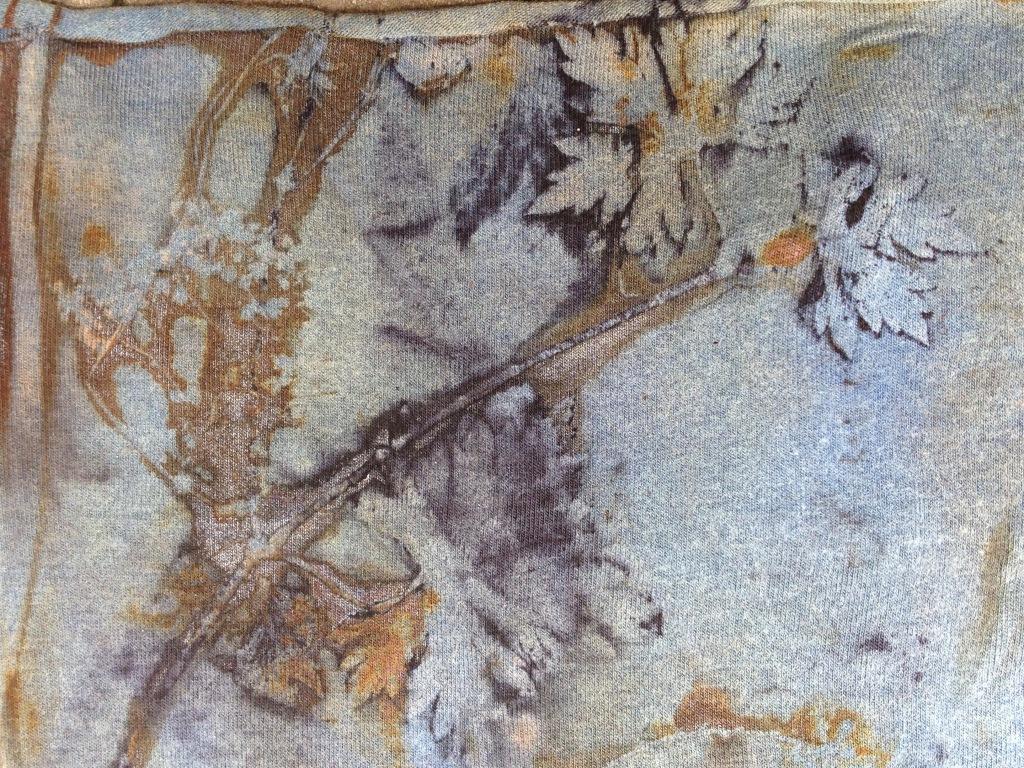 ecoprint indigo roest