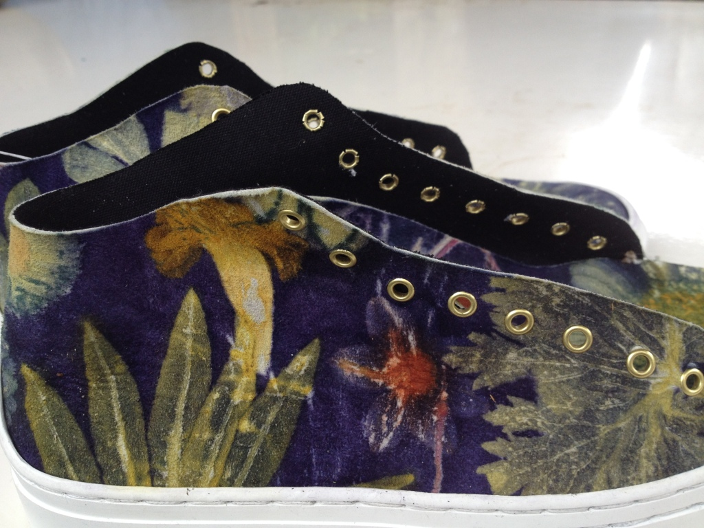 Ecoprinted shoes