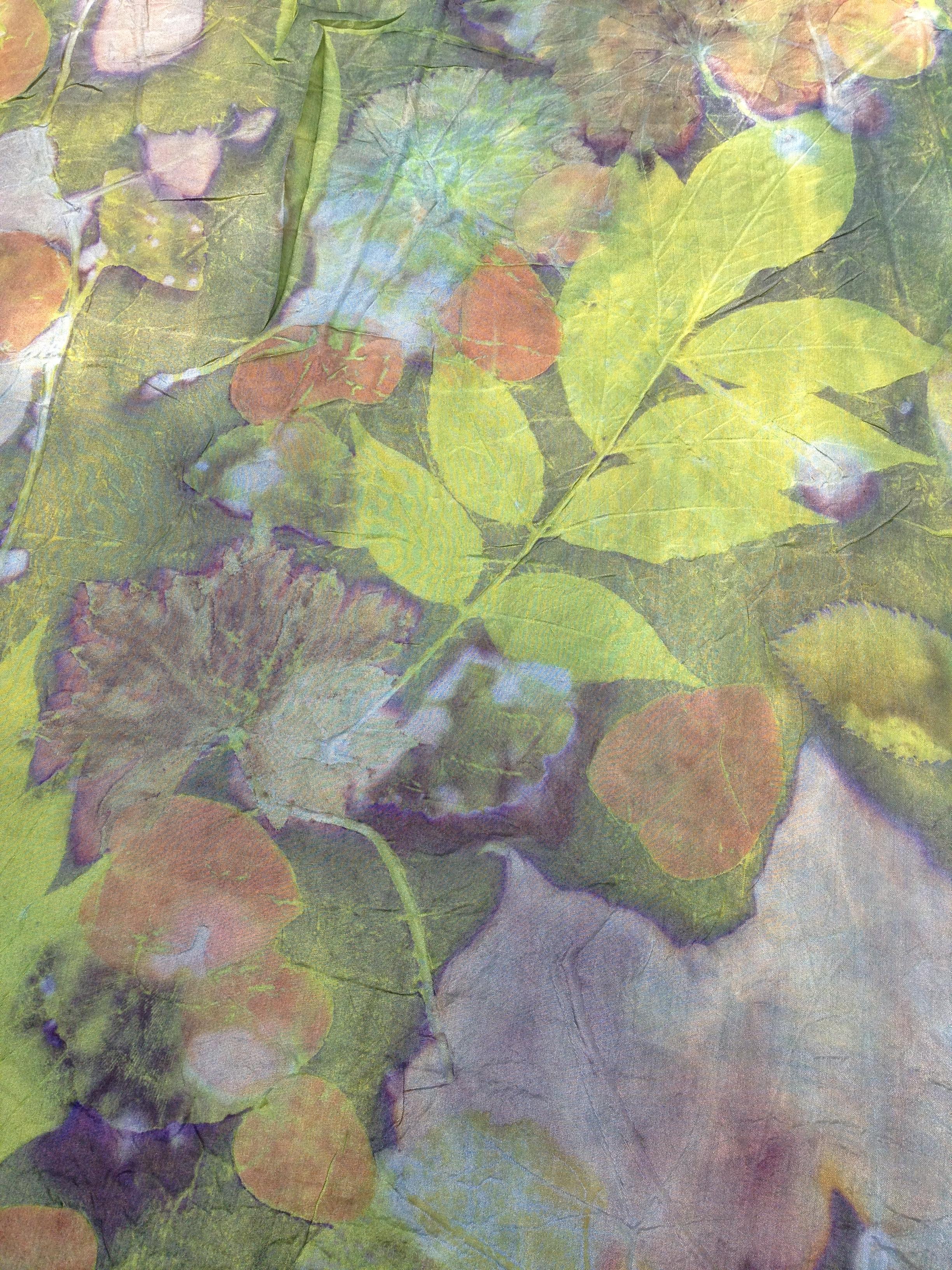 ecoprint zijde groen